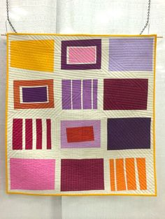 Neighbourhood_Finished_Front_Closeup by Factotum of Arts Quilting Blogs, Quilting Designs, Modern Quilting, Quilting Ideas, Quilt Modern, Quilting Projects, Mini Quilts, Baby Quilts, Small Quilts