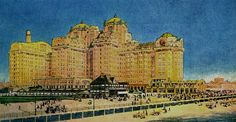 A water color rendition of Traymore. The hotel was popular with painters due to its majestic size!