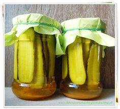 ogórki kanapkowe z kurkumą Pickles, Cucumber, Salads, Food And Drink, Menu, Banana, Homemade, Fruit, Cooking