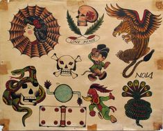 From Ricco/Maresca Gallery, Rosie Camanga, Untitled Ink on paper, 13 × 10 in Traditional Tattoo Flash Sheets, Traditional Tattoo Old School, Traditional Flash, American Traditional, Traditional Tattoos, Dragon Tattoo Flash, Dragon Sleeve Tattoos, Tattoo Flash Art, Tattoo Ink