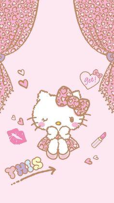 Hello Kitty Gifts, Hello Kitty Art, Hello Kitty Birthday, Sanrio Wallpaper, Kawaii Wallpaper, Pink Wallpaper, Wallpaper Stickers, Hello Kitty Pictures, Kitty Images