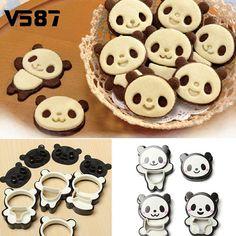 Home & Garden 7 Cartoon Expression Doughnut Panda Shaped Silica Gel Cake Mould Kitchen,dining & Bar