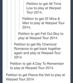 PLEASE. I also petition for them to all play different set times that do not overlap. Thanks.