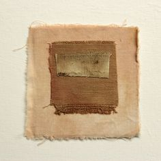 Naturally dyed textiles, including organic cotton and linen, arranged into abstract compositions, inspired by my exterior and interior landscape.Fragile, responsive pieces left unframed for you...