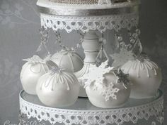 White Sphere Mini Cakes