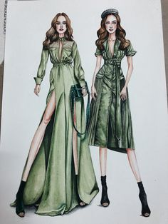 Best Picture For fashion sketches For Your Taste You are looking for something, and it is going to t Dress Design Sketches, Fashion Design Sketchbook, Fashion Design Drawings, Art Sketchbook, Fashion Model Sketch, Fashion Sketches, Fashion Models, Dress Illustration, Fashion Illustration Dresses