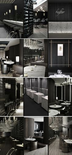 Great design ideas to work incorporate into home design.The Beef Bar designed by Tony Chi. Deco Restaurant, Restaurant Lounge, Bar Lounge, Vintage Interior Design, Restaurant Interior Design, Cafe Interior, Commercial Design, Commercial Interiors, Deco Cafe