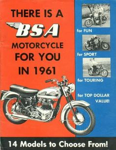 There's a BSA motorcycle for you!
