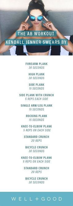 Kendall Jenners 11-minuet ab workout