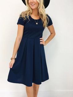 Grace Dress in Navy_Model 2.jpg
