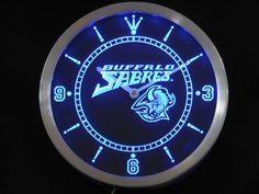 Buffalo Sabres Neon Sign LED Wall Clock