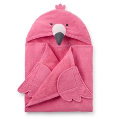 Flamingo Hooded Towel For Kids