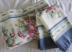 Vintage Duvet Cover and Matching Pillowcases - Double Duvet Cover and Shams…