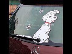 Смешная Пятнистая Собака - Прикольная и Веселая Наклейка на Стекло Автом...
