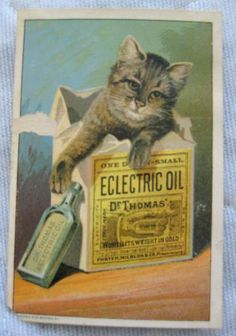 Victorian Trade Card Advertising Dr. Thomas Eclectric Oil by JonunVintage for $2.50