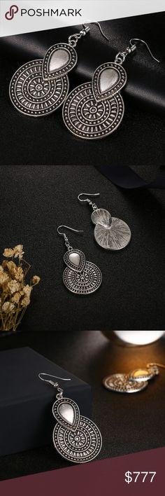 Coming Soon! Vintage Silver-tone Earrings Silver-tone round drop earrings. $12 when they arrive Jewelry Earrings