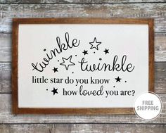 Twinkle twinkle little star wood sign New baby gift Nursery wall decor Twinkle wall decor Baby room wall art Nursery sign Twinkle wall art Nursery Signs, Nursery Wall Decor, Nursery Art, Girl Nursery, Nursery Rhymes, Baby Room Wall Art, Baby Art, Best Baby Gifts, Wooden Wall Decor
