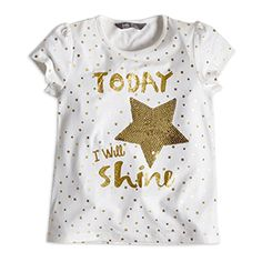 Buy Top with Print for at Lindex Golden Glitter, Tiny Star, Party Tops, Children, Kids, Sequins, How To Wear, Clothes, Fashion