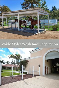 Designing the Best Wash Rack for Your Barn Dream Stables, Dream Barn, Barn Layout, Horse Barn Designs, Horse Shelter, Horse Barn Plans, Farm Plans, Horse Ranch, Horse Stalls