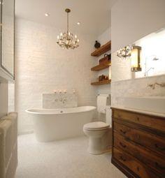 How-To DIY Article   11 Simple DIY Ways To Make Your Small Bathroom Look BIGGER   Image Source: Centsational Girl- Designer: Anile Prakash   CLICK TO ENJOY... http://carlaaston.com/designed/11-easy-ways-to-make-a-small-bathroom-look-bigger (KWs: mirror, cabinet, closet, lighting)