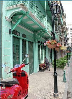 Red Scooter Macau China