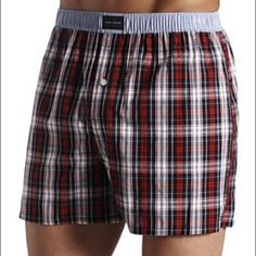 Tommy Hilfiger boxers Men's plaid boxers. Tommy Hilfiger underwear. New! Tags attached. Size small. I have 4 pairs available. Tommy Hilfiger Intimates & Sleepwear Panties