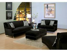22 Best Black Living Room Furniture images | Living room ...