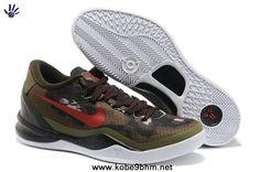 brand new efd39 fbf02 SQDRN GREEN CHLLNG RD-LGN BRWN 555286 301 Nike Kobe 8 System GC Kobe