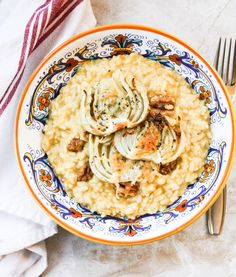 Roasted Fennel with Risotto