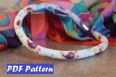 PDF Bead crochet pattern, Seed beads crochet pattern, bead crochet rope pattern, Paisley