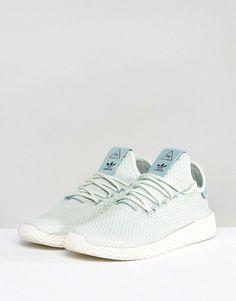 adidas Originals X Pharrell Williams Tennis HU Sneakers In Pale Green at  asos.com 20b88423a