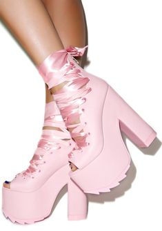 Y.R.U. Ballet Bae Platforms | Dolls Kill-- So I would wear these. Cute as heck!!! With a little black leather skirt or a cute dress
