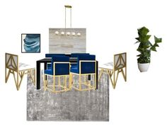 """""""glam dining room"""" by farahpro on Polyvore featuring interior, interiors, interior design, home, home decor, interior decorating, Surya, West Elm and dining room"""