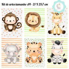 Jungle Theme Parties, Jungle Party, Safari Theme, Baby Animal Drawings, Cute Cartoon Drawings, Scrapbook Bebe, Disney Cars Party, Car Party, Elephant Quilt
