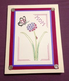 Custom made Mother's Day card by Sew Cute Cards (for my own mama!) www.facebook.com/sewcutecards
