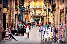 Riera Baixa, Barcelona's vintage district. Barcelona Guide, Shopping In Barcelona, Barcelona City, Barcelona Travel, Barcelona Catalonia, Cruise Europe, Spain And Portugal, Most Beautiful Cities, Chaka Khan
