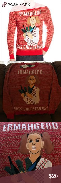 Alex Stevens Meme Themed Ugly Christmas Sweater -Brand new with tags, never worn  -Quality material (not the t shirt like printed Xmas sweaters)  -Size XXL Alex Stevens Sweaters Crewneck