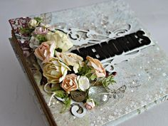 Scraps Of Darkness scrapbook kits- Nov. Serenade kit - gorgeous mixed media mini album created by Dorota Dolega