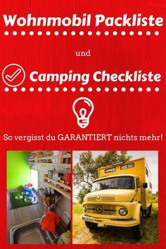 Wer mit dem Wohnmobil auf Reisen geht hat einiges zu packen, bevor es endlich los gehen kann. Damit du garantiert nichts mehr vergisst, haben wir hier unsere Wohnmobil Packliste und Camping Checkliste für dich.