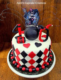 My 40th birthday cake I made for myself - harley Quinn (cake by April Aragon)