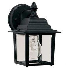 London 1 Light Wall Lantern in Black