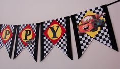 Disney Cars Birthday Banner Handmade Customizable by ArtisanHut Disney Cars Birthday, 4th Birthday, Mc Queen Cars, Mcqueen, Banner, Party Ideas, Unique Jewelry, Handmade Gifts, Vintage