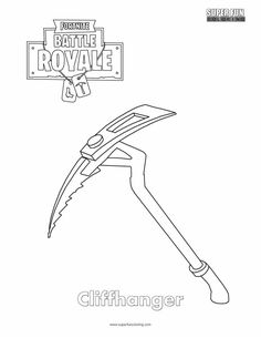 Fortnite Rifle Scar Coloring Page | Fortnite printables in ...