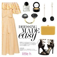 """""""Dressing made easy by Little h Jewelry"""" by littlehjewelry ❤ liked on Polyvore featuring Gül Hürgel, Stuart Weitzman, Inge Christopher, Byredo and MAC Cosmetics"""