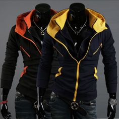 Men's Slim Mixed Colors Jackets Sweatshirts