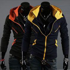 Men's Slim Mixed Colors Jackets Sweatshirts