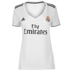 a14a2c3dd adidas 2018-2019 Real Madrid Womens Home Football Soccer T-Shirt Jersey Real  Madrid
