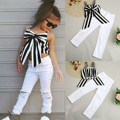 Possibly the most delightful looks for newborn baby date clothing, look up all of the necessities like pajamas, body fits, bibs, and even more. Dresses Kids Girl, Little Girl Outfits, Cute Outfits For Kids, Little Girl Fashion, Toddler Outfits, Kids Fashion, Bow Tops, Cute Baby Clothes, Babies