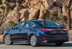 The refreshed 2016 ES 350 has new taillights and chrome-tipped exhaust tips inspired by the flagship LS luxury sedan. Lexus Es, Tail Light, Car Ins, Cool Toys, Vehicles, Chrome, Photography, Inspired, Tips