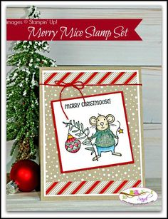 Stampin Up Merry Mice card by Sandi @ www.stampinwithsandi.com from the Stampin Up Holiday Catalog
